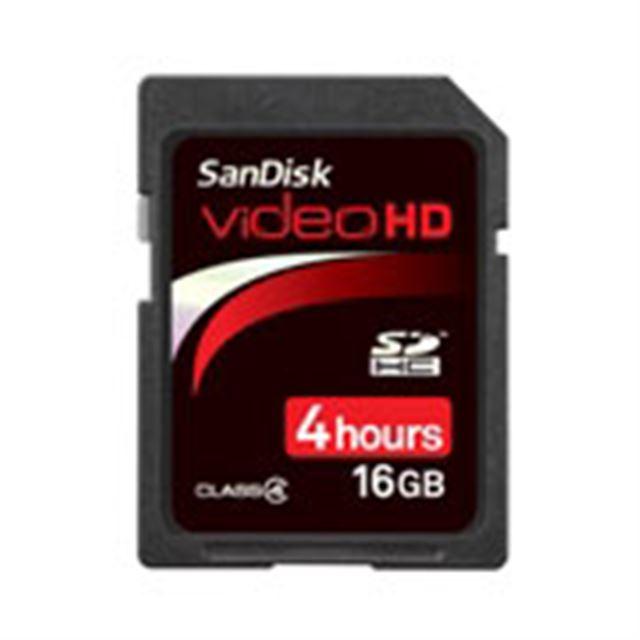 [SDSDHV-016G-J15] SDスピードクラスCLASS4に対応したSDHCメモリーカード(16GB)。価格はオープン