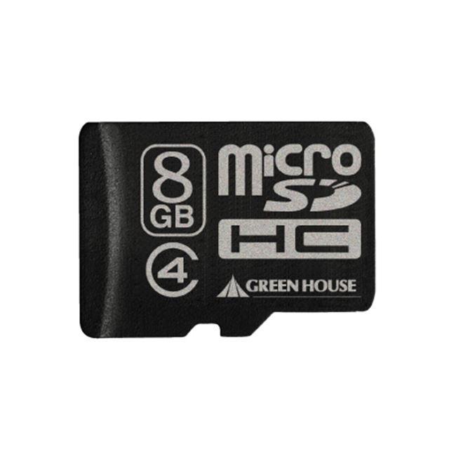 [GH-SDMRHC8G4] SDスピードクラス「Class4」に対応したmicroSDHCメモリーカード(8GB)。直販価格は5,780円(税込)
