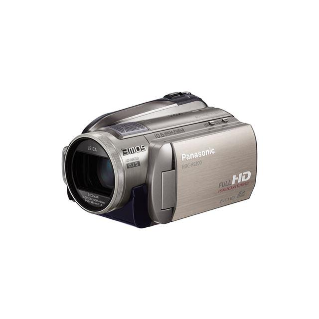 [HDC-HS200] 追っかけフォーカス/次世代光学式手ブレ補正/HD高速連写機能/SDカードスロットなどを備えたデジタルハイビジョンビデオカメラ(80GB HDD)。価格はオープン
