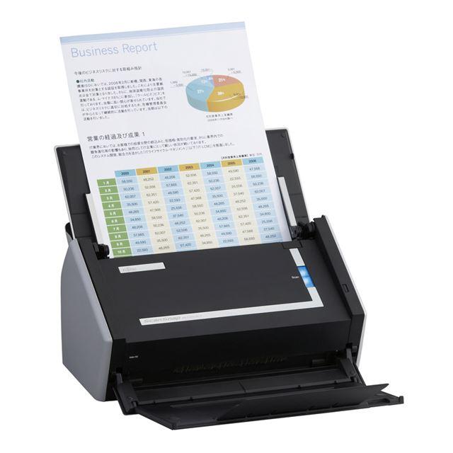[ScanSnap S1500] 300dpiの高解像度で毎分20枚・40面の高速読み取りを実現したパーソナルドキュメントスキャナー(Windowsモデル)。直販価格は49,800円(税込)