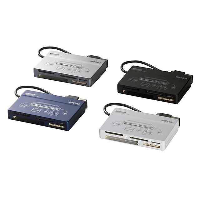 [BSCRA49U2] TurboUSBに対応したUSB2.0対応カードリーダー(ブラック) 。本体価格は2,690円