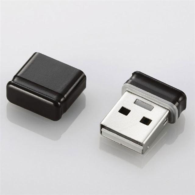 [MF-SU208GBK] ノートPCに装着したままでも飛び出しが気にならない超小型USBメモリー(ブラック/8GB)。価格はオープン