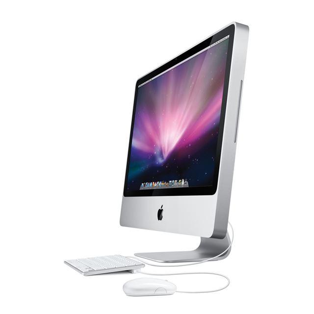 [iMac MB420J/A] Core 2 Duo 3.06GHz/GeForce GT 130/4GBメモリー/1TB HDDを搭載した24型液晶一体型デスクトップPC。直販価格は244,800円〜