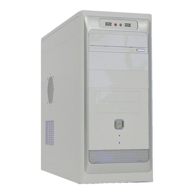 [AC500-11WS] 500Wの電源を搭載したATXミドルタワーケース(ホワイト)。市場想定価格は9,800円