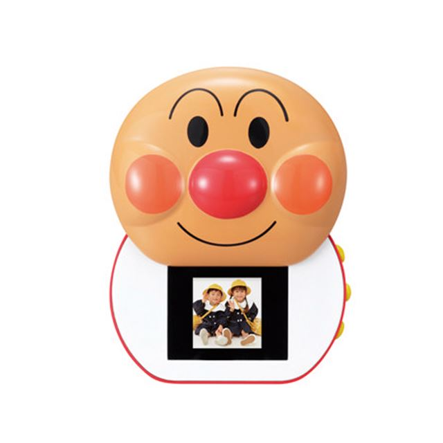 [アンパンマンデジタルフォトフレーム] アンパンマンの顔を液晶画面カバーに採用した1.5型液晶搭載デジタルフォトフレーム。価格は4,935円(税込)