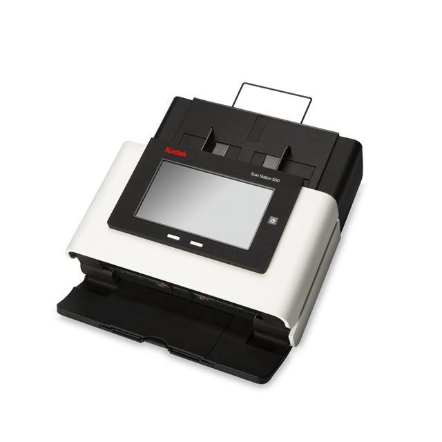 [Scan Station 500] カラータッチスクリーン/ボイスアタッチメント機能/USBポートなどを備えたA4対応ネットワークスキャナー。本体価格は280,000円