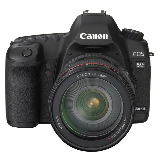 [EOS 5D Mark II] 2110万画素フルサイズCMOSセンサー/ライブビュー/視野率約98%のファインダー/フルHD動画撮影機能を備えたデジタル一眼レフカメラ。価格はオープン