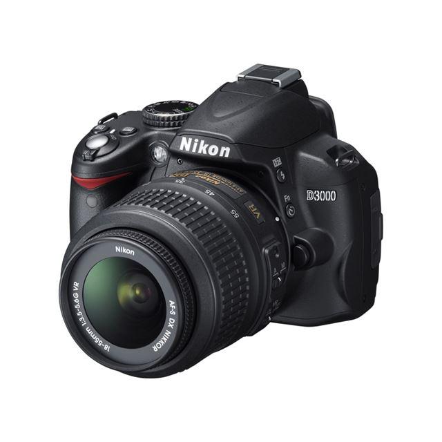 [D3000] ガイドモードや3.0型大型液晶モニターなどを備えたエントリー向けデジタル一眼レフカメラ(1020万画素)。価格はオープン