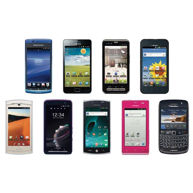 ドコモスマートフォン 2011年夏モデル