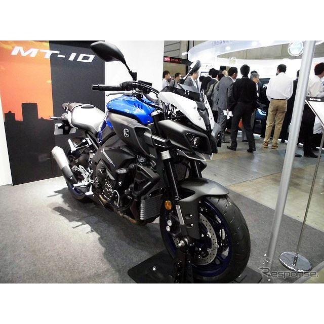 欧州で5月末発売予定の「MT-10」を先行展示したヤマハ発動機(人とくるまのテクノロジー展2016横浜)