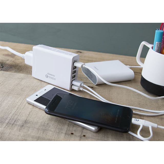 cheero 6 USB AC Charger