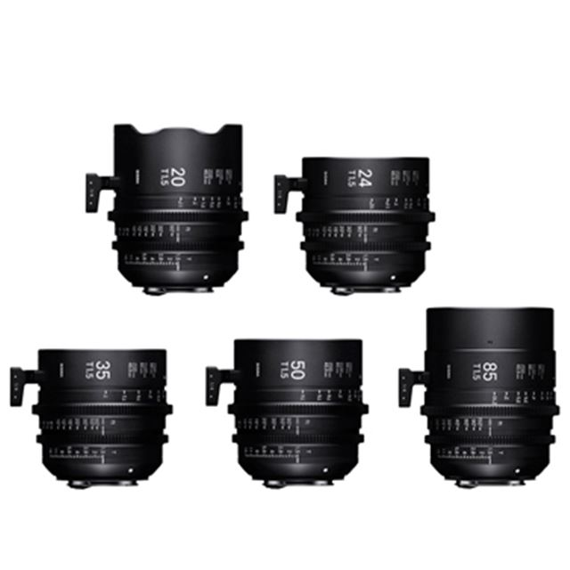 SIGMA 20mm T1.5 FF、SIGMA 24mm T1.5 FF、SIGMA 35mm T1.5 FF、SIGMA 50mm T1.5 FF、SIGMA 85mm T1.5 FF