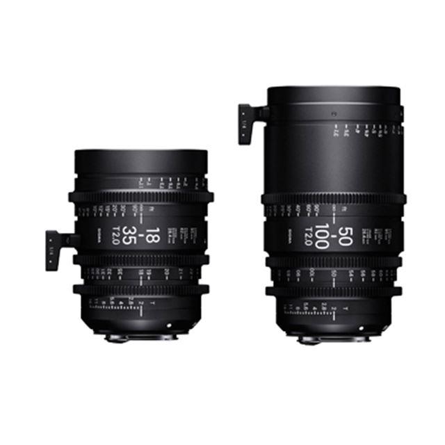 SIGMA 18-35mm T2、SIGMA 50-100mm T2