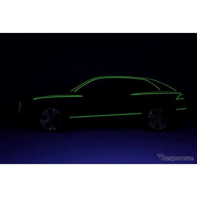 アウディの新型SUVのティザーイメージ
