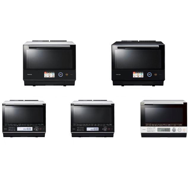 上段が「ER-SD7000」2機種、下段左から「ER-SD5000」「ER-SD3000」「ER-SD100」