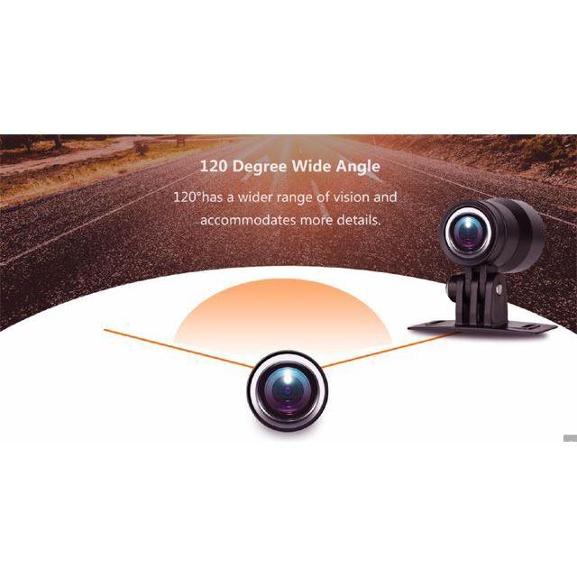 バイク用防水2カメラ分離型フルHDドライブレコーダー