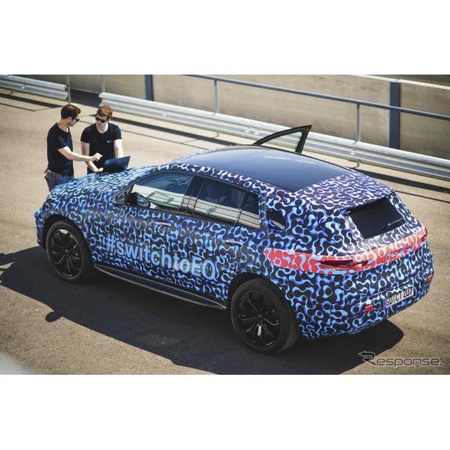 メルセデス EQC の最新プロトタイプ車