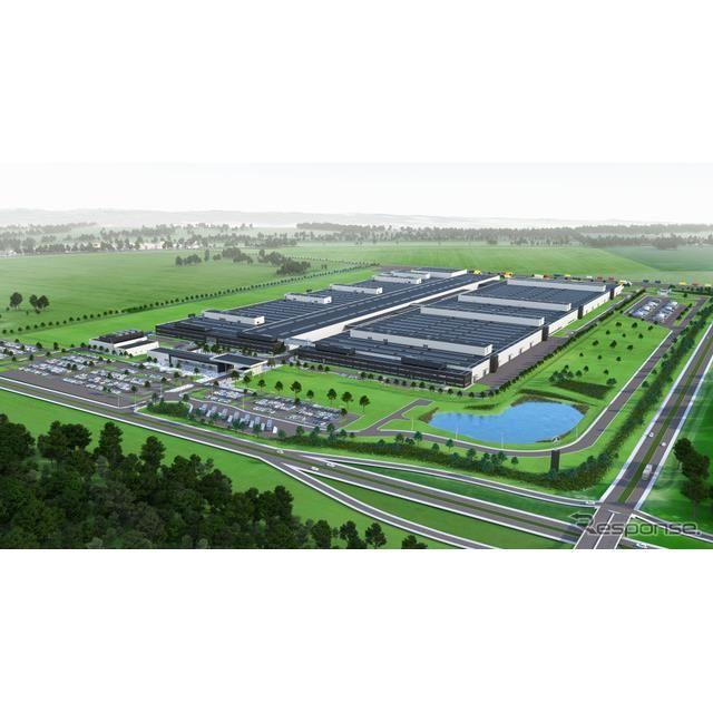 メルセデスベンツ乗用車のポーランド新エンジン工場の予想図