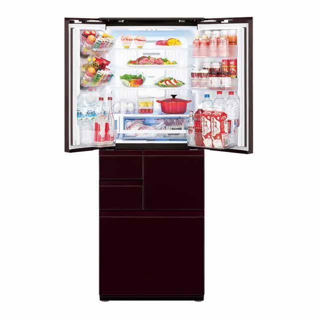 プラズマクラスター冷蔵庫<SJ-GX55E-R 庫内イメージ>