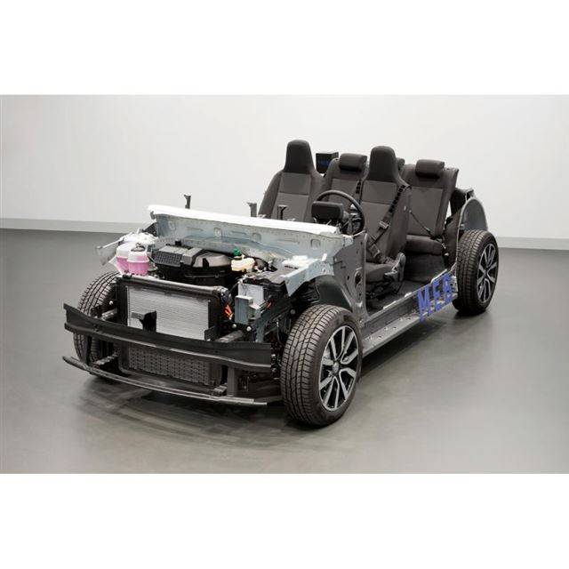 「ID.」シリーズに採用される電気自動車用シャシー。