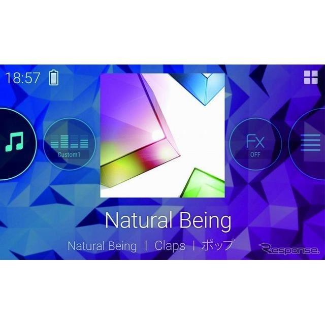 スマートフォンに収録している曲や音楽アプリを高音質な音で楽しめるほか、スマートフォンでメインユニットのメディア操作も可能