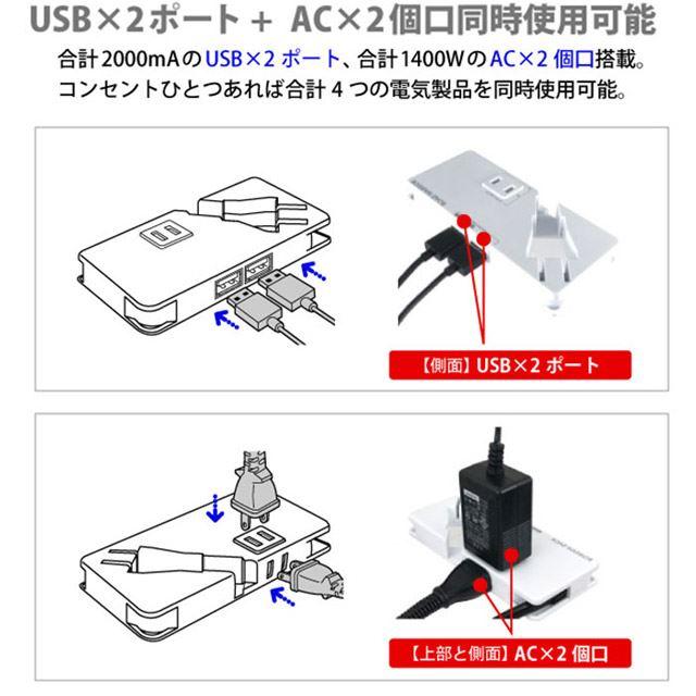 ロードウォーリア モバイルUSB+ACタップ