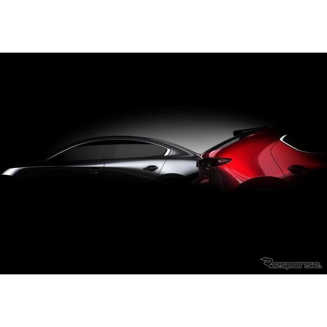 Mazda 3 新型ティザーイメージ