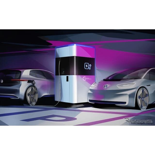 VWの移動式急速充電ステーションのイメージ