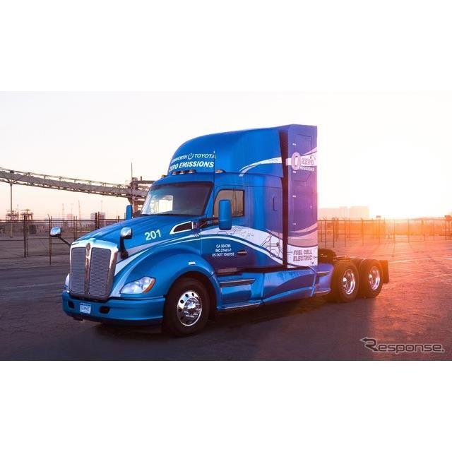 トヨタの水素燃料電池を搭載したゼロエミッショントラック、ケンワース T680