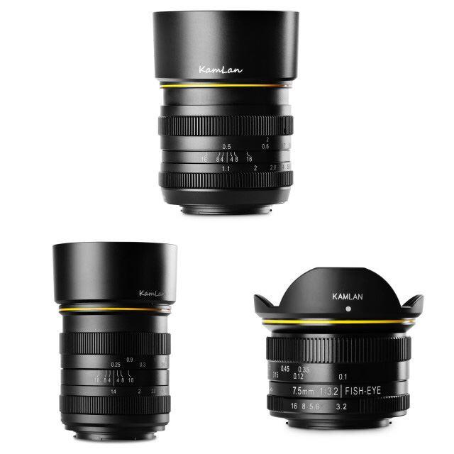 ※画像1枚目は上段が「50mm F1.1」、下段左から「28mm F1.4」「7.5mm F3.2」