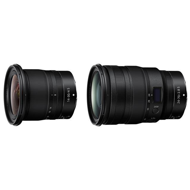 「NIKKOR Z 14-30mm f/4 S」「NIKKOR Z 24-70mm f/2.8 S」