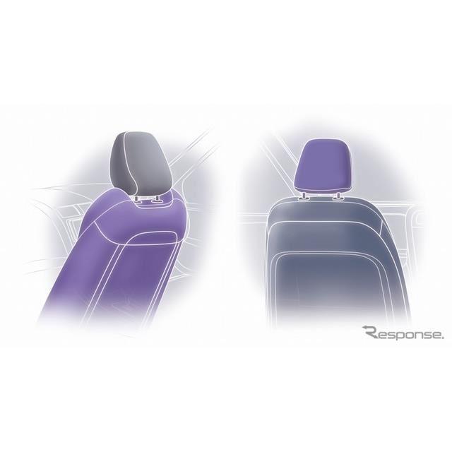 凹型形状シート&ヘッドレストが外れないシート(イメージ)