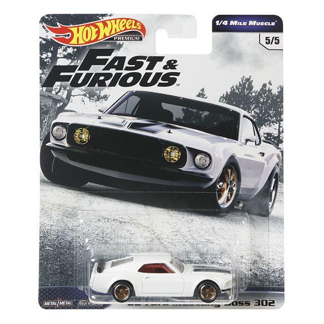 ワイルド・スピード・プレミアム・シリーズ 1/4 マイル マッスル '69 フォード・マスタング ボス302