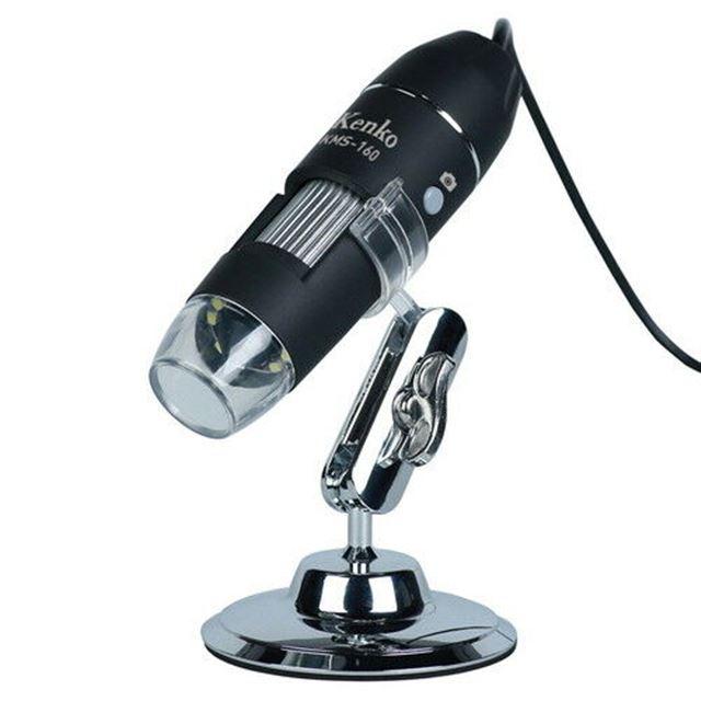 ケンコー、スマホやPCとUSB接続できるコンパクト顕微鏡「KMS-160」