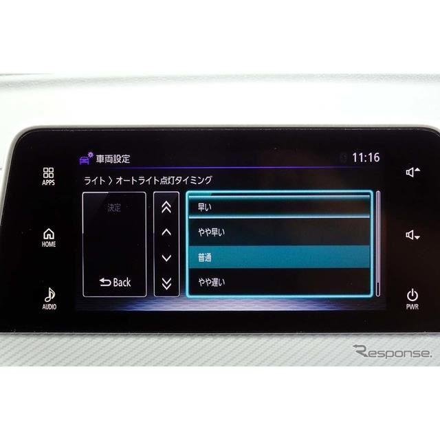 SDAではオートライトの点灯タイミングを変更したり、多彩な車両側の設定が可能だ