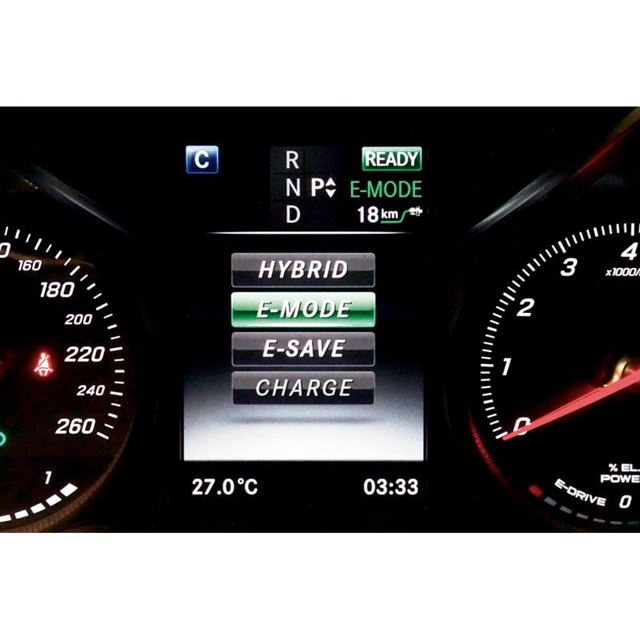「C350eアバンギャルド」には4種類の走行モードが用意される。