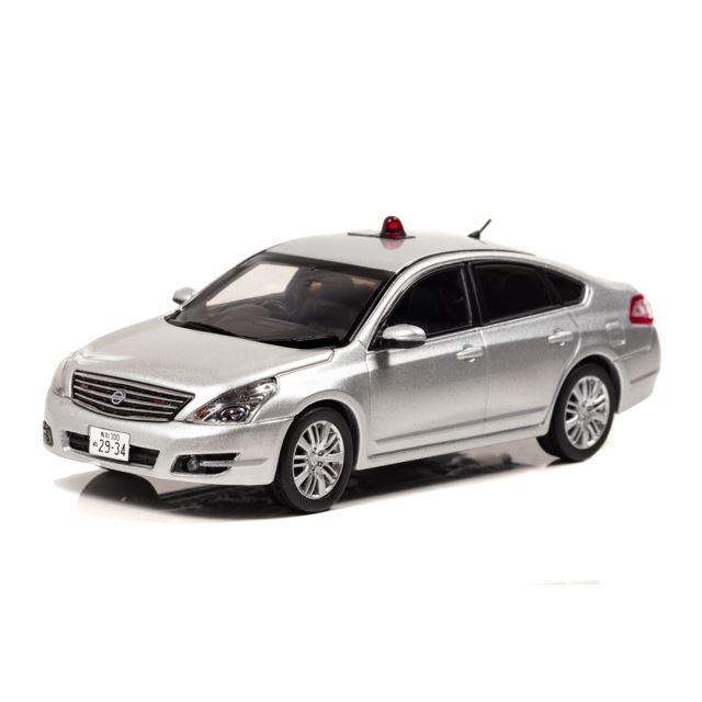 1/43 日産 ティアナ 250XV(J32)2015 鳥取県警察交通部交通機動隊車両(覆面 銀)