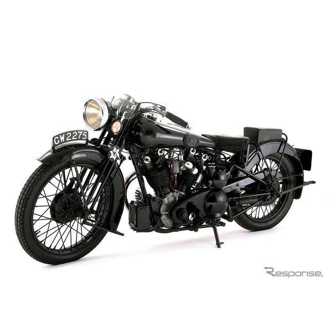 アラビアのロレンスこと、トーマス・エドワード・ロレンスが所有したブラフスーペリアSS100(1932年)。英ナショナル・モーター・ミュージアム蔵
