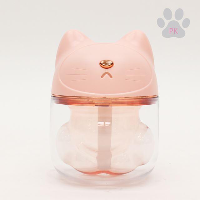 ネコの肉球型ミニLED加湿器