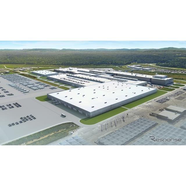 フォルクスワーゲンの米国EV工場の完成予想図