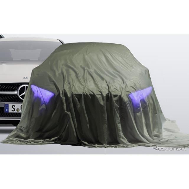 メルセデスベンツが2020年に発表する新型車のティザーイメージ