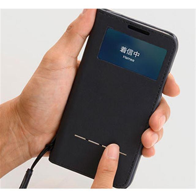 iPhone XS/X専用 LAURO ラウロ本革窓付きダイアリーケース