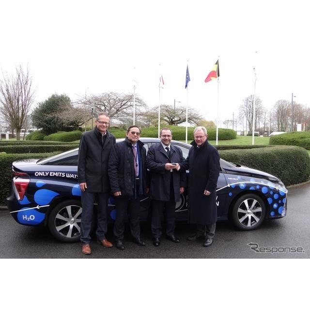 欧州議会がテスト車両として導入したトヨタ・ミライ