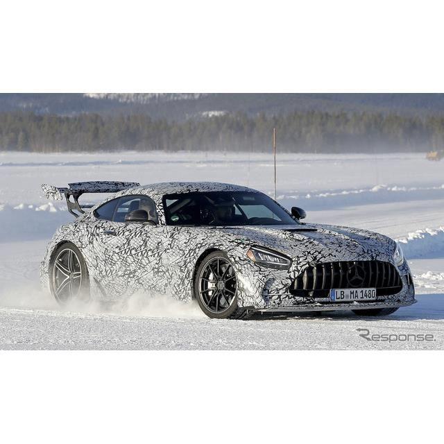 メルセデス AMG GT R ブラックシリーズ開発車両(スクープ写真)
