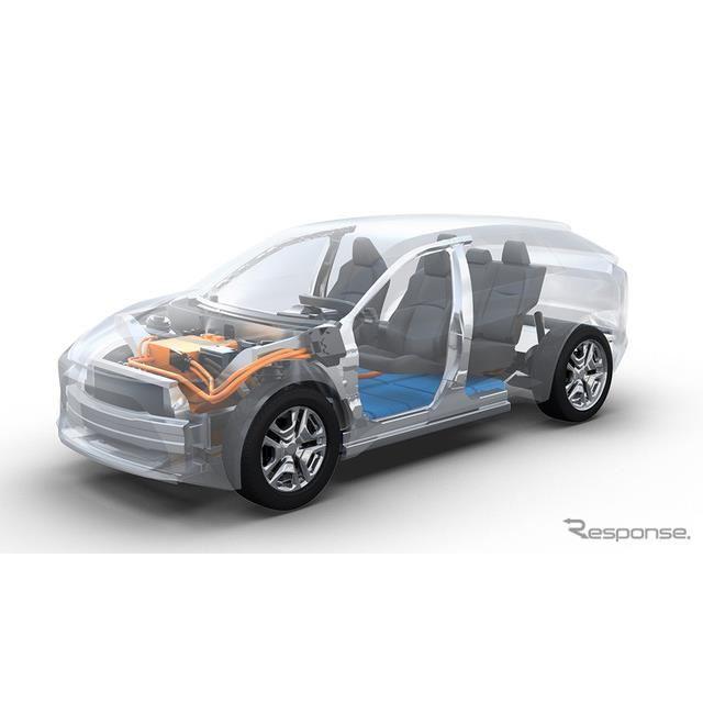 トヨタとスバルが共同開発するEV専用プラットフォーム(イメージ)