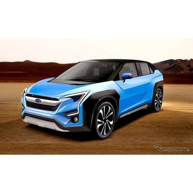 スバルとトヨタの共同開発による電動クロスオーバーSUV予想図