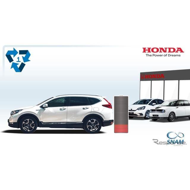 ホンダの電動車の使用済みバッテリーリサイクルのイメージ