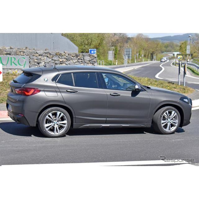 BMW X2 改良新型プロトタイプ(スクープ写真)