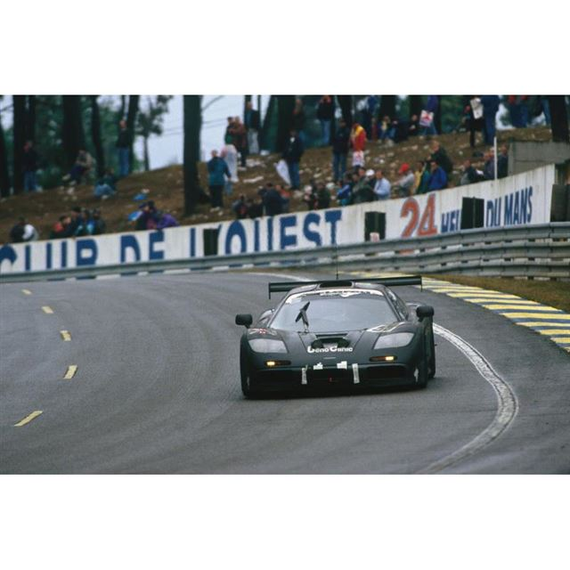 1995年のルマン24時間レースにおける「マクラーレンF1 GTR」59号車。同マシンはこのレ...