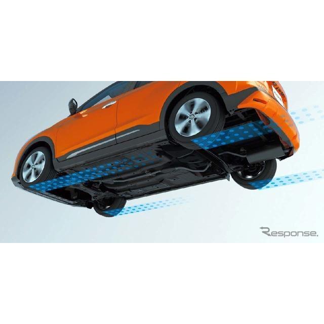 「インテリジェントトレースコントロール」(コーナリング安定性向上システム)」高速道路出入り口や山道などのカーブで、トレース性を向上させる